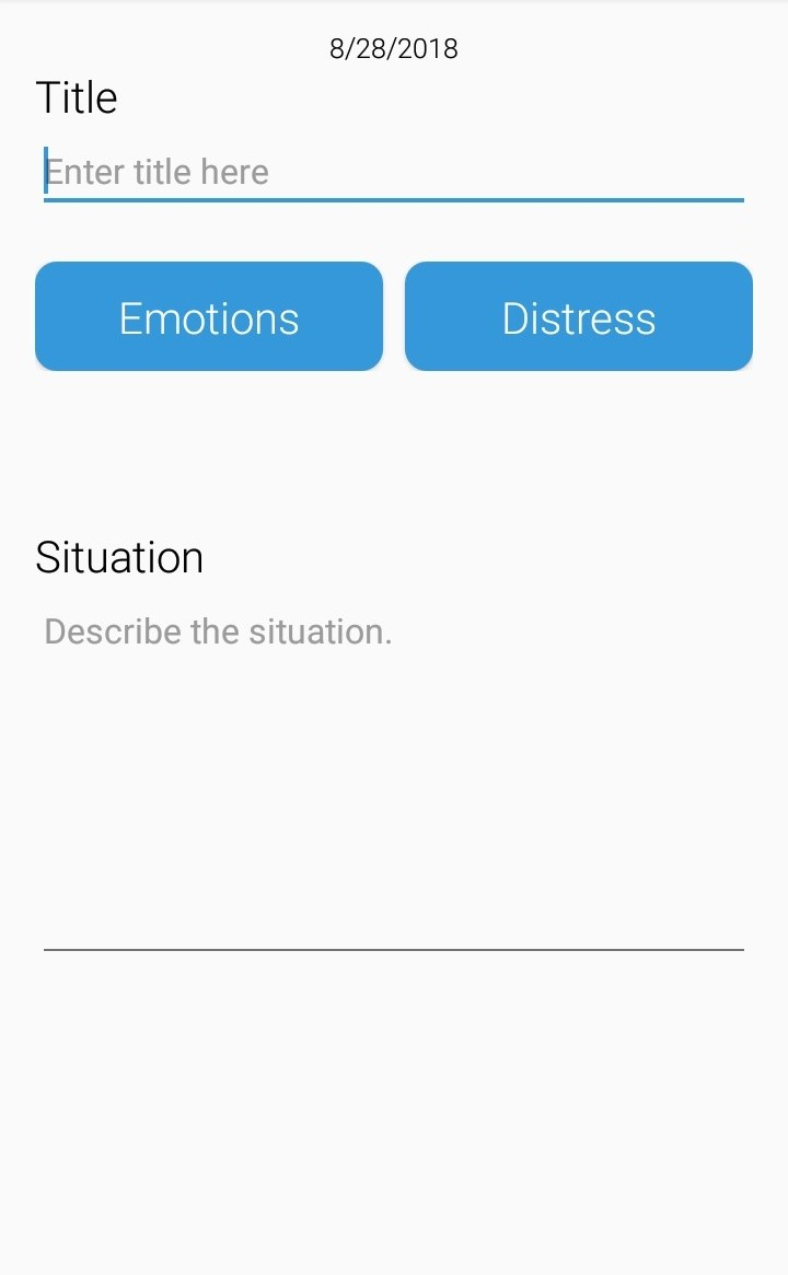 Thought Diary App