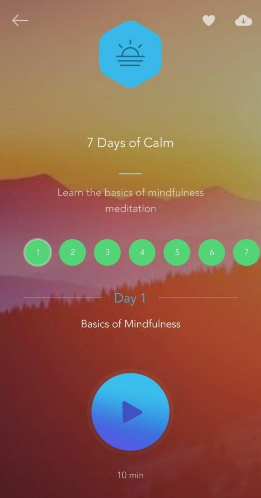 calm 7 day