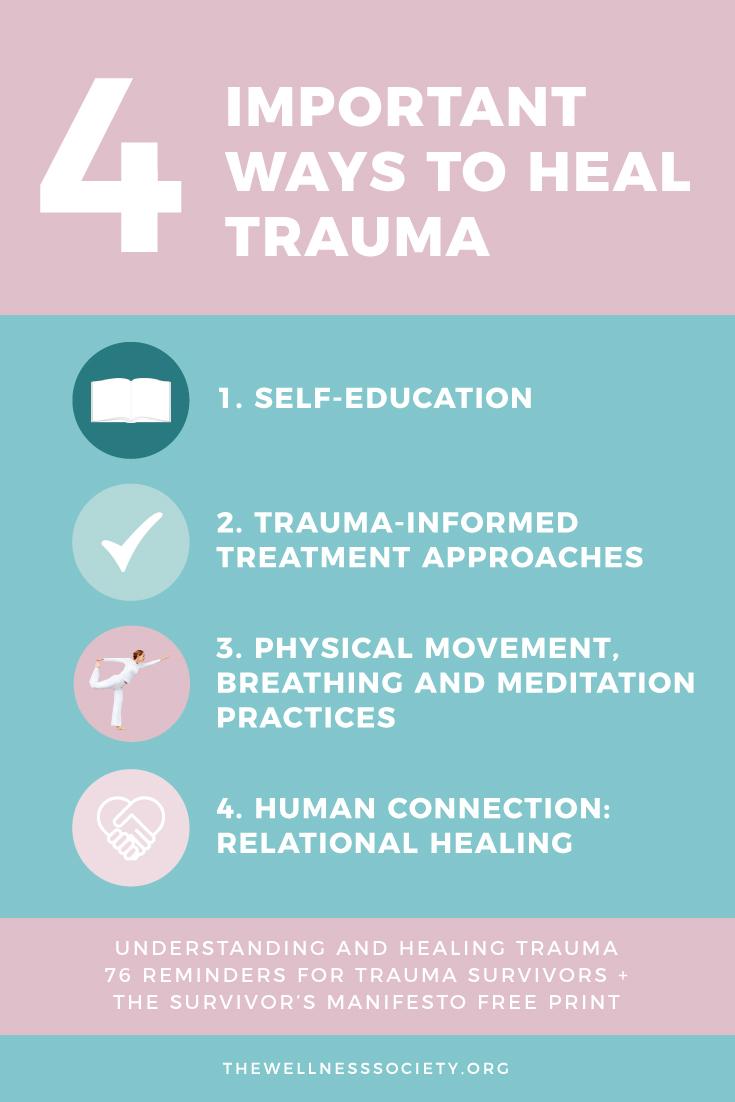 Understanding and Healing Trauma + 76 Reminders for Trauma Survivors + The Survivor's Manifesto FREE Print