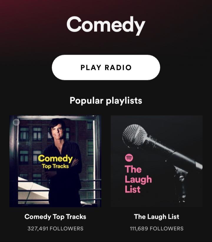 spotify comedy