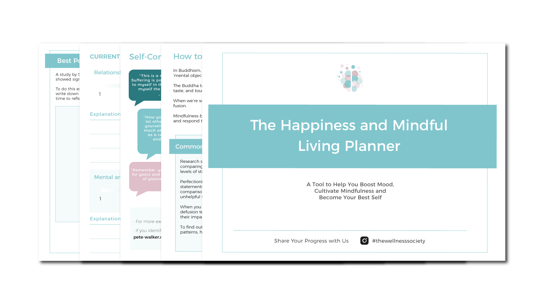 Happiness and Mindful Living Planner