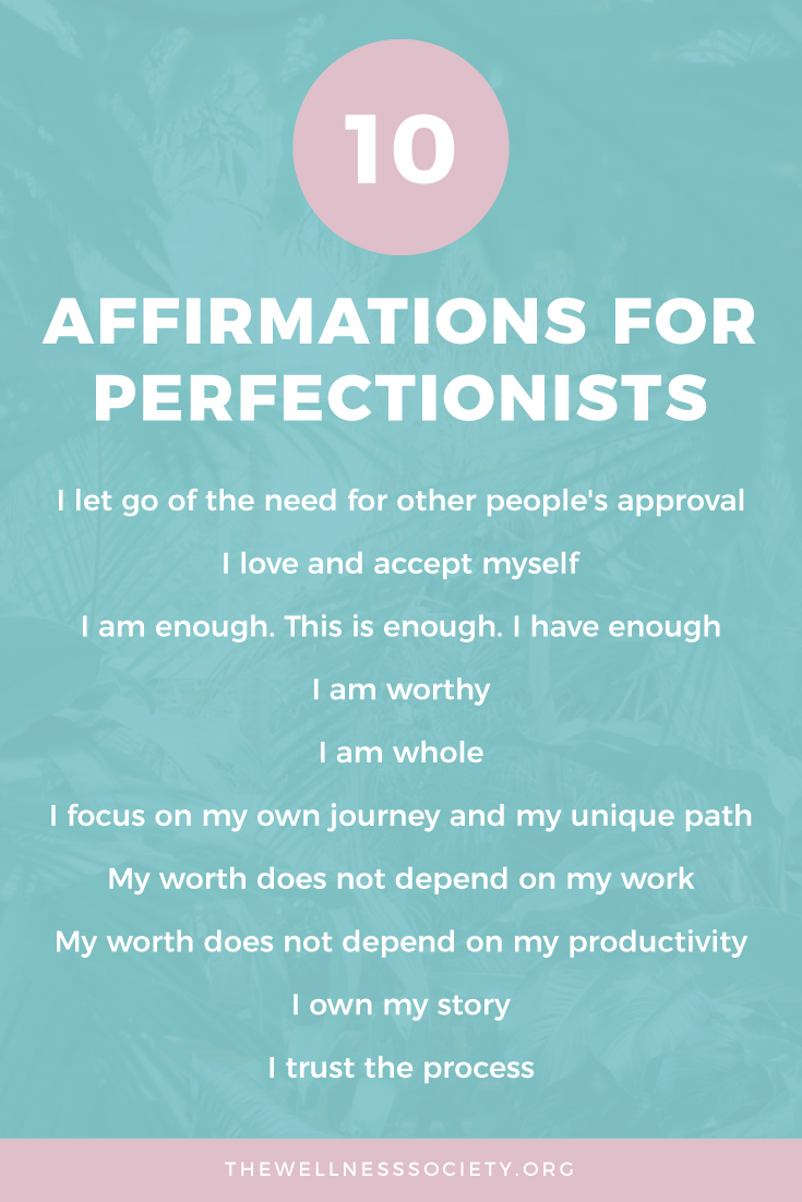 Perfectionism Affirmations