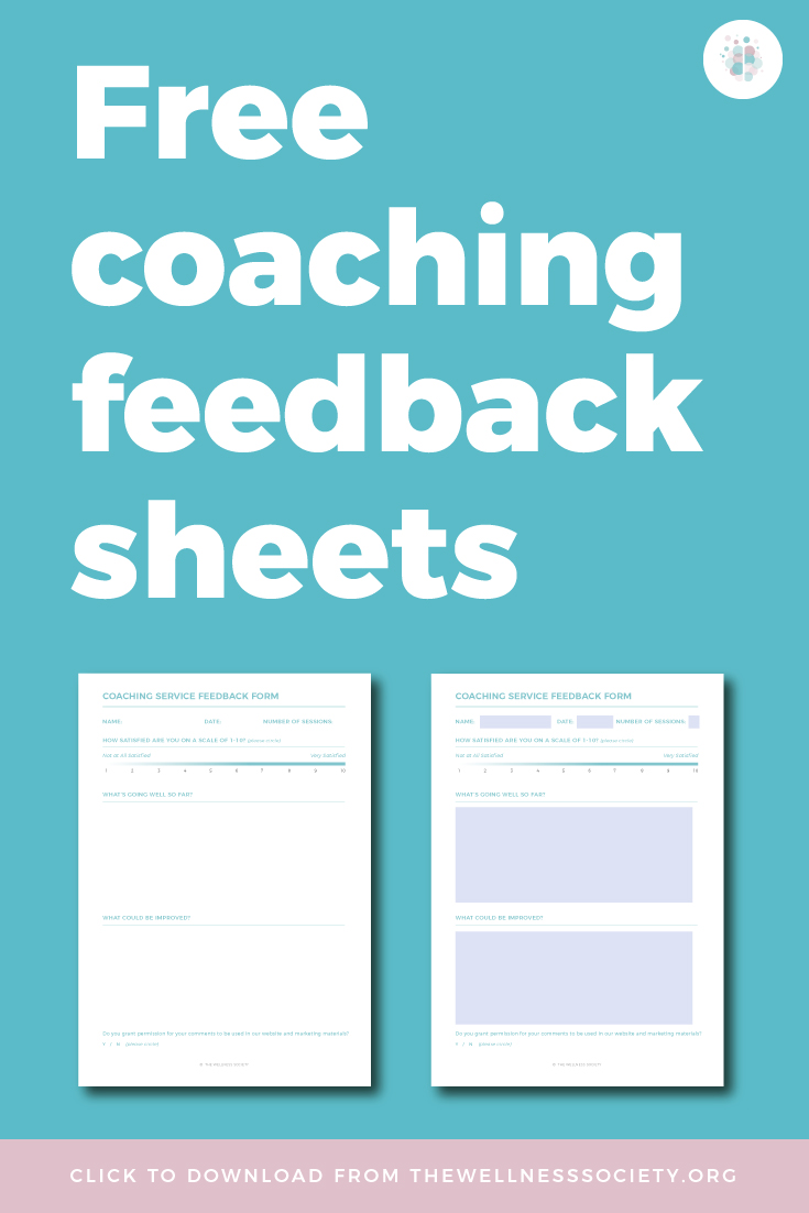 Free Coaching Tools Client Feedback Sheets