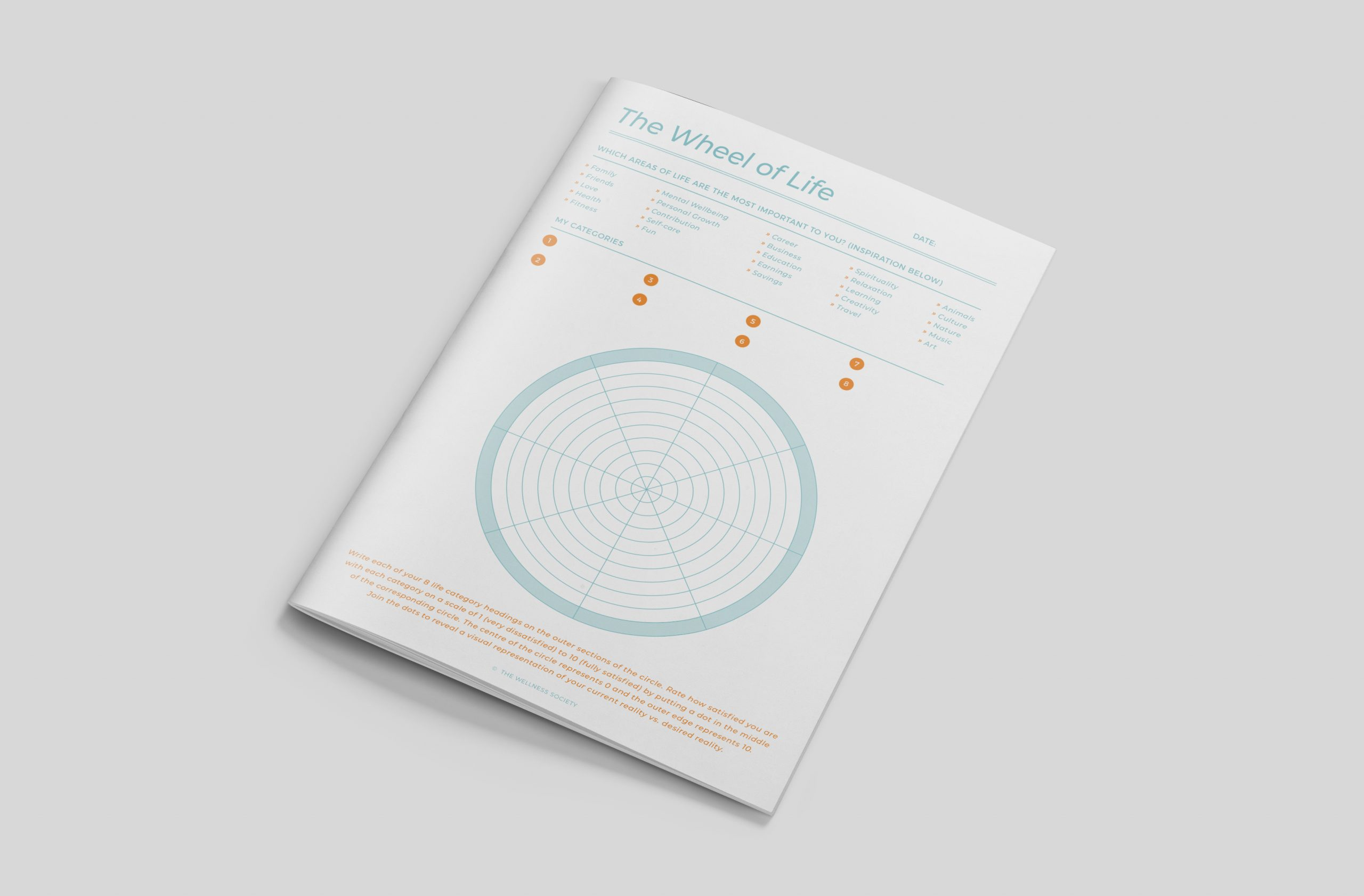 Wheel of Life Worksheets