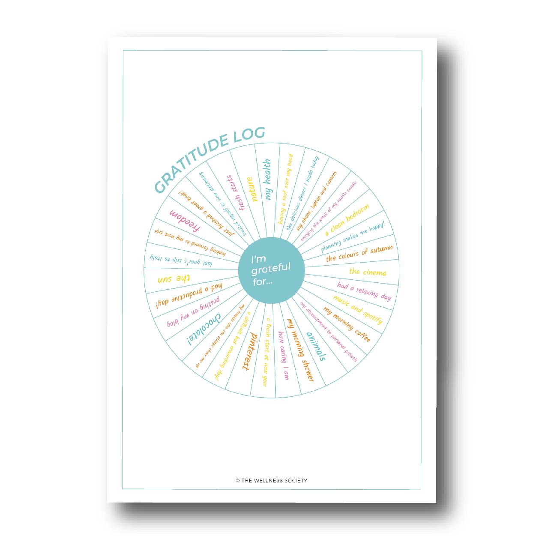 gratitude log printable free