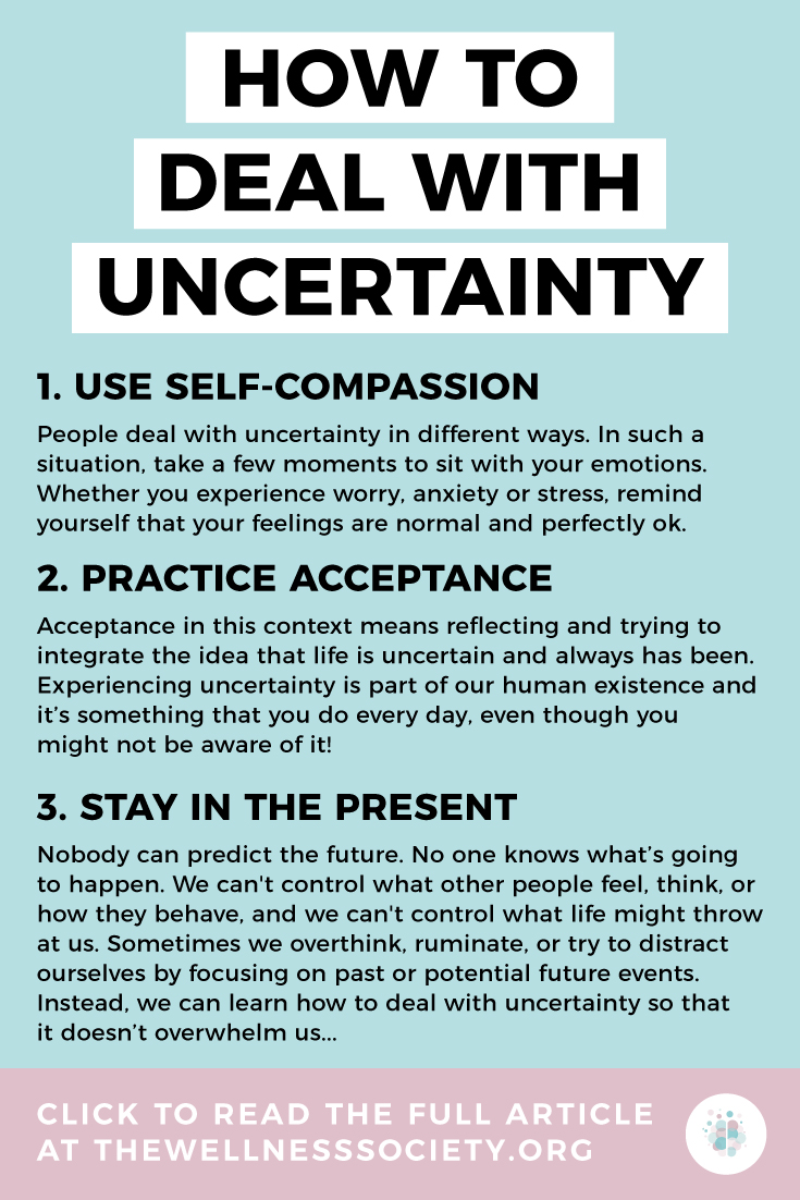 how to deal with uncertainty