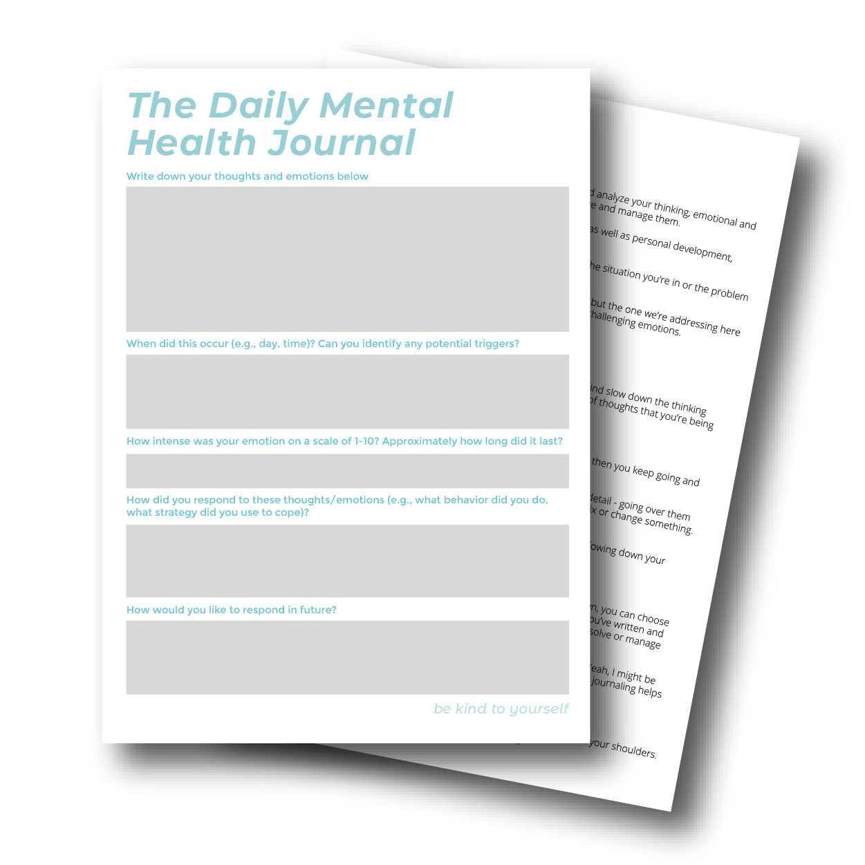 mental health journal pdf