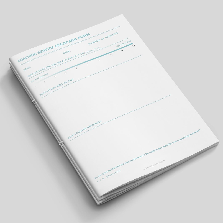 coaching feedback sheets